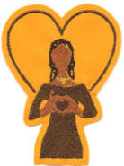 Iota Sweetheart: Hand-sign Lady, originally designed by University Apparel, Inc.